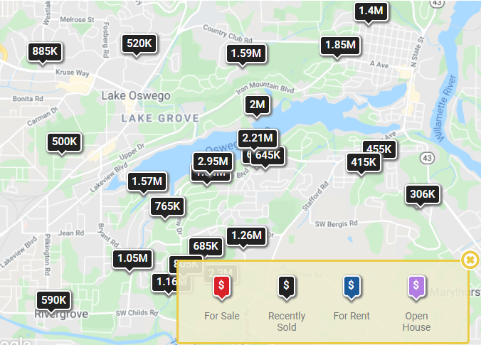 Lake Oswego and West Linn Home Sale Prices